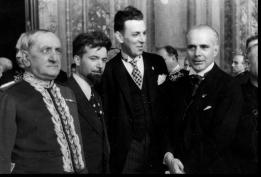 al funerale di Guglielmo Marconi, con Lucio D'Ambra e Umberto Nobile