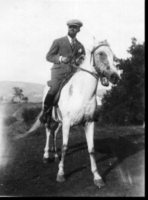 Tullio Colsalvatico a cavallo